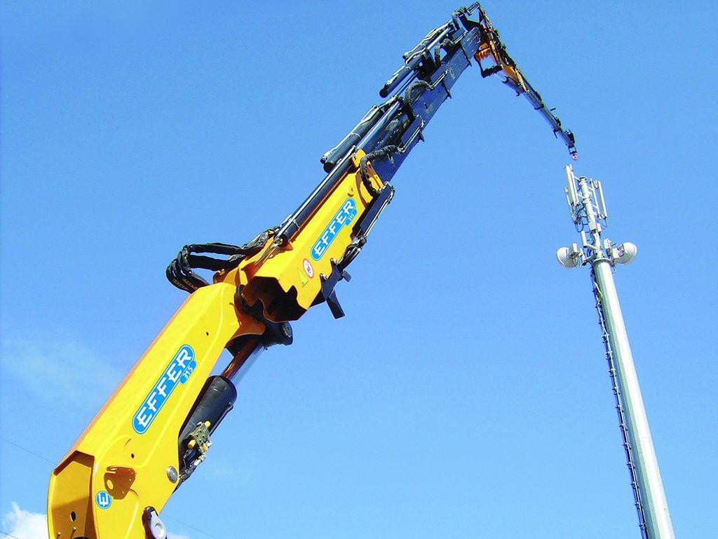 Jib Pole Crane : Pole handling crane effer truck cranes