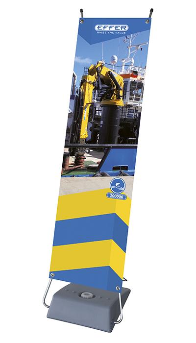 Banner con grúa marina 200000