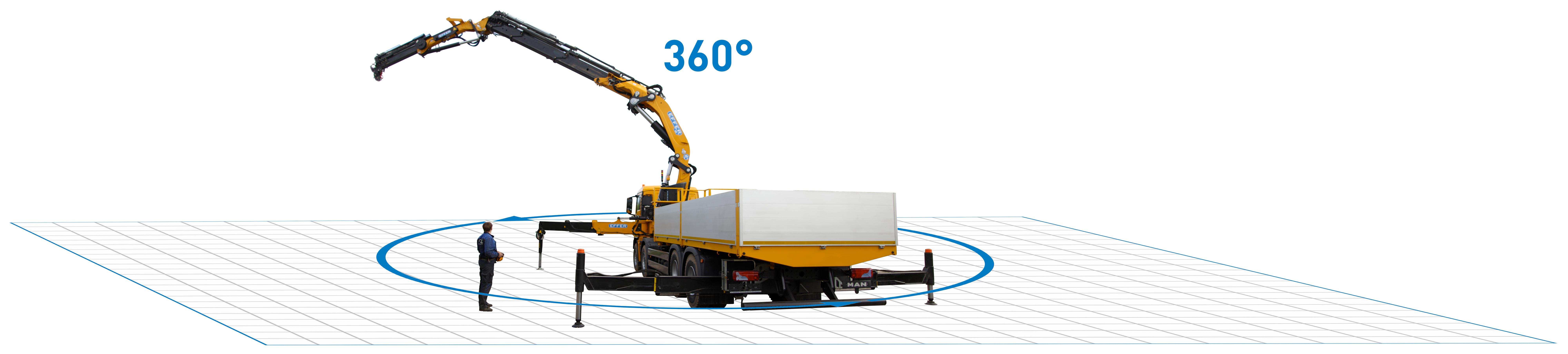 Crane with remote control - Effer Truck Cranes