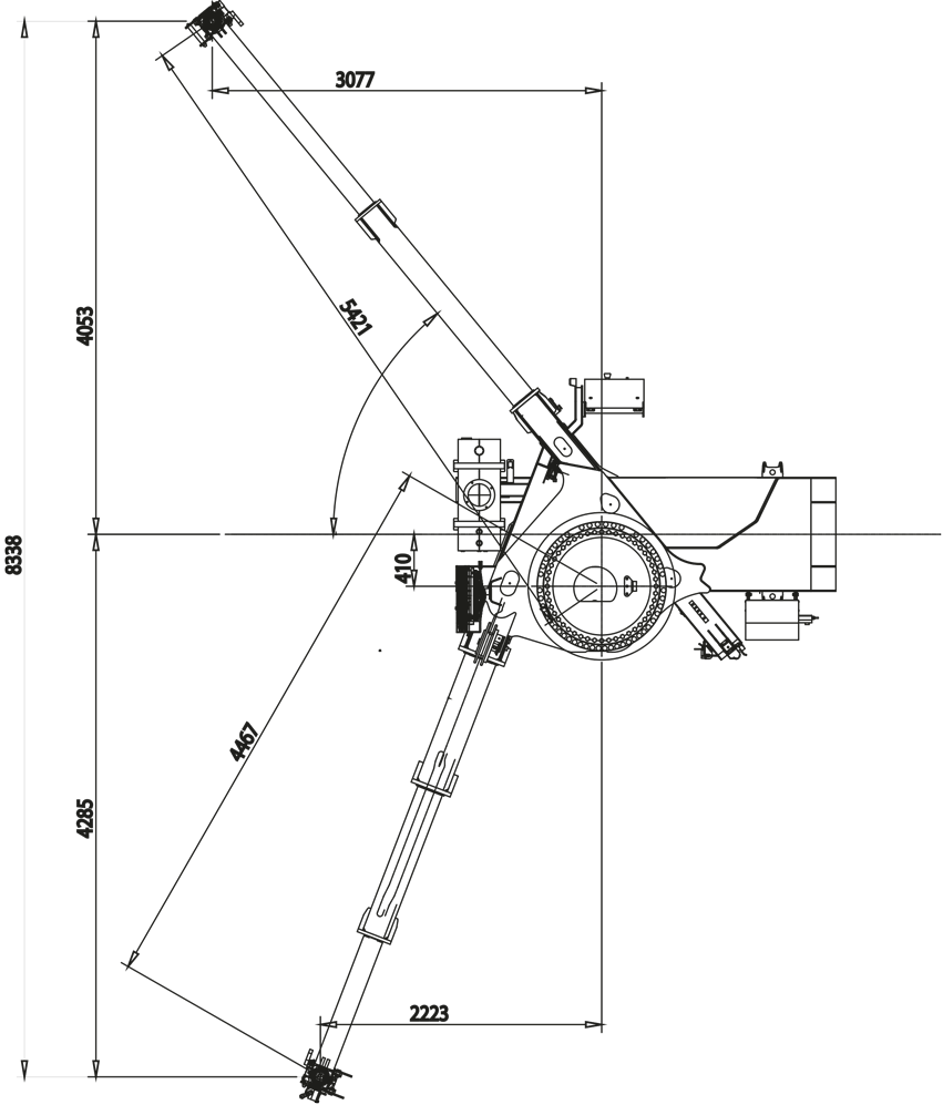 Crane For Truck Effer Cranes Schematic Dimensions
